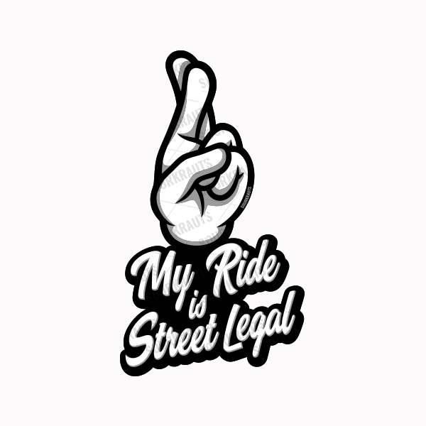 Aufkleber Street Legal