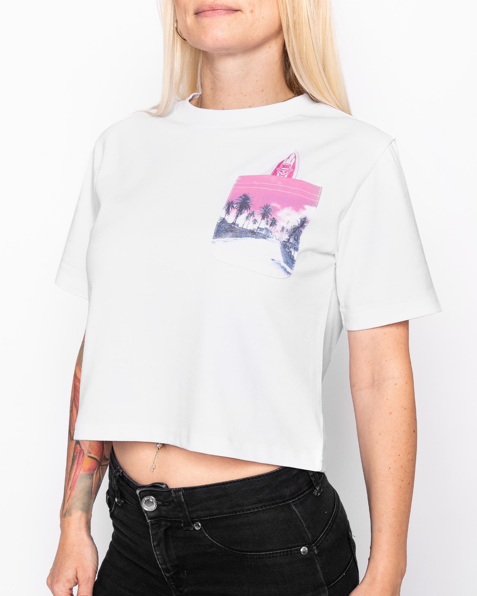Cropped Girlyshirt | Keona | Weiss