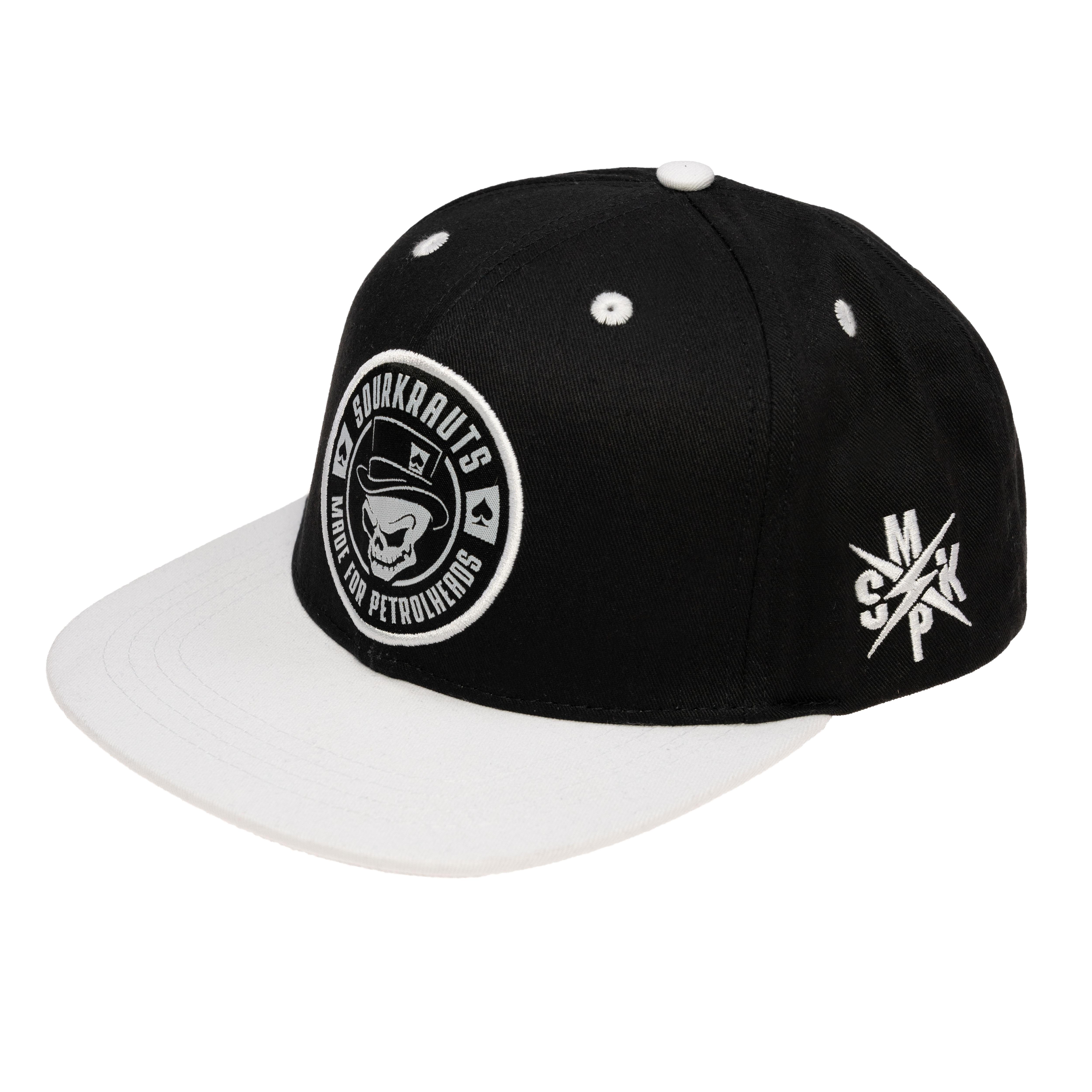 Snapback Cap   SK II   Schwarz-Weiss