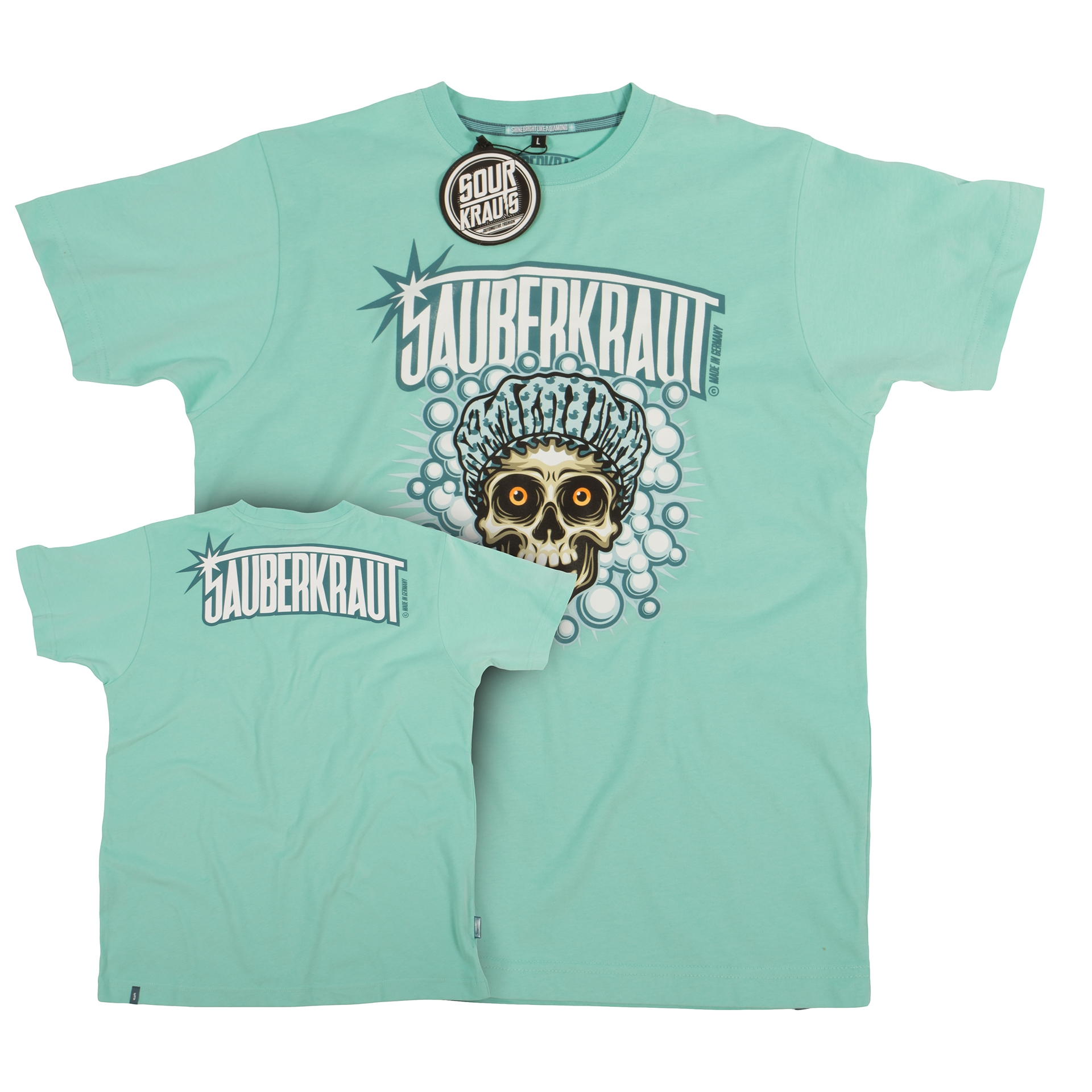 T-Shirt Sauberkraut Hellblau